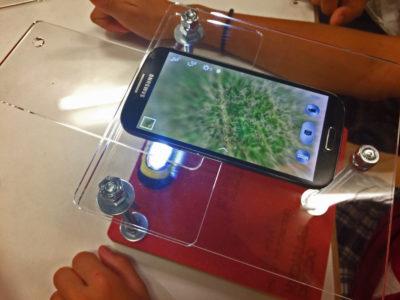 smartphone como microscopio