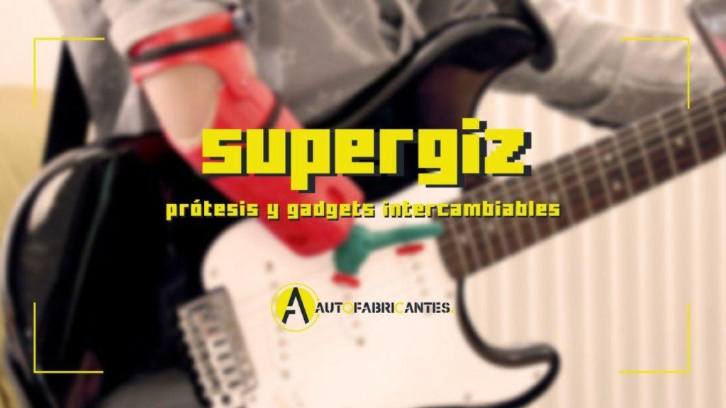 Gadget de SuperGiz para tocar la guitarra